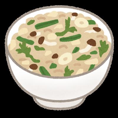 山菜ご飯のイラスト