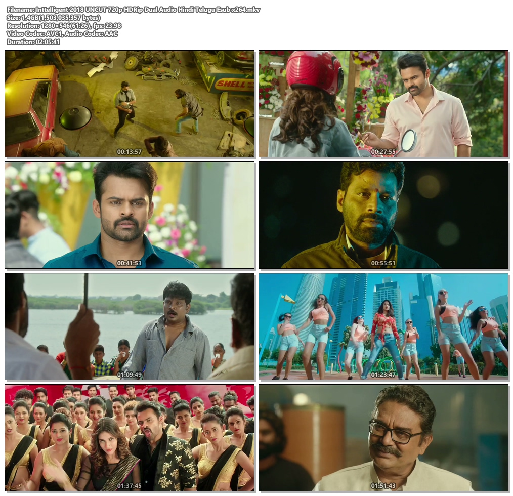 Inttelligent 2018 720p HDRip Dual Audio Hindi Telugu Esub x264 | 480p 300MB | 100MB HEVC Screenshot