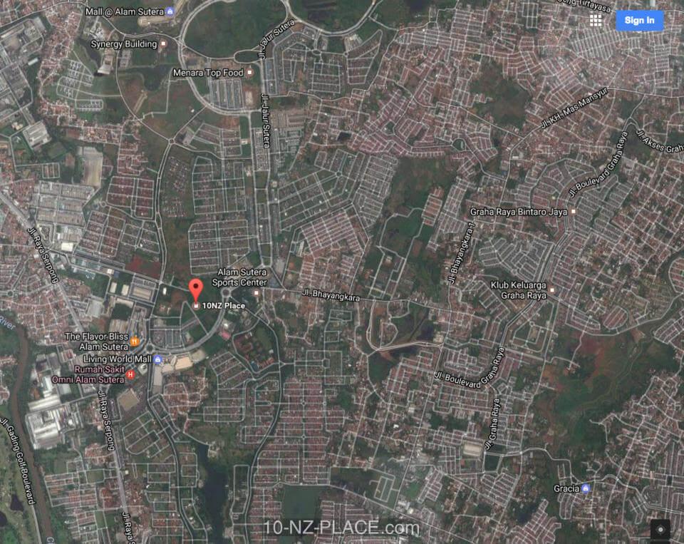 10NZ Place Map Location Alam Sutera