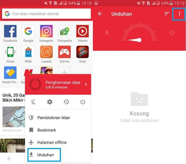Agar Hasil Download di Opera Mini Tersimpan di SD Card