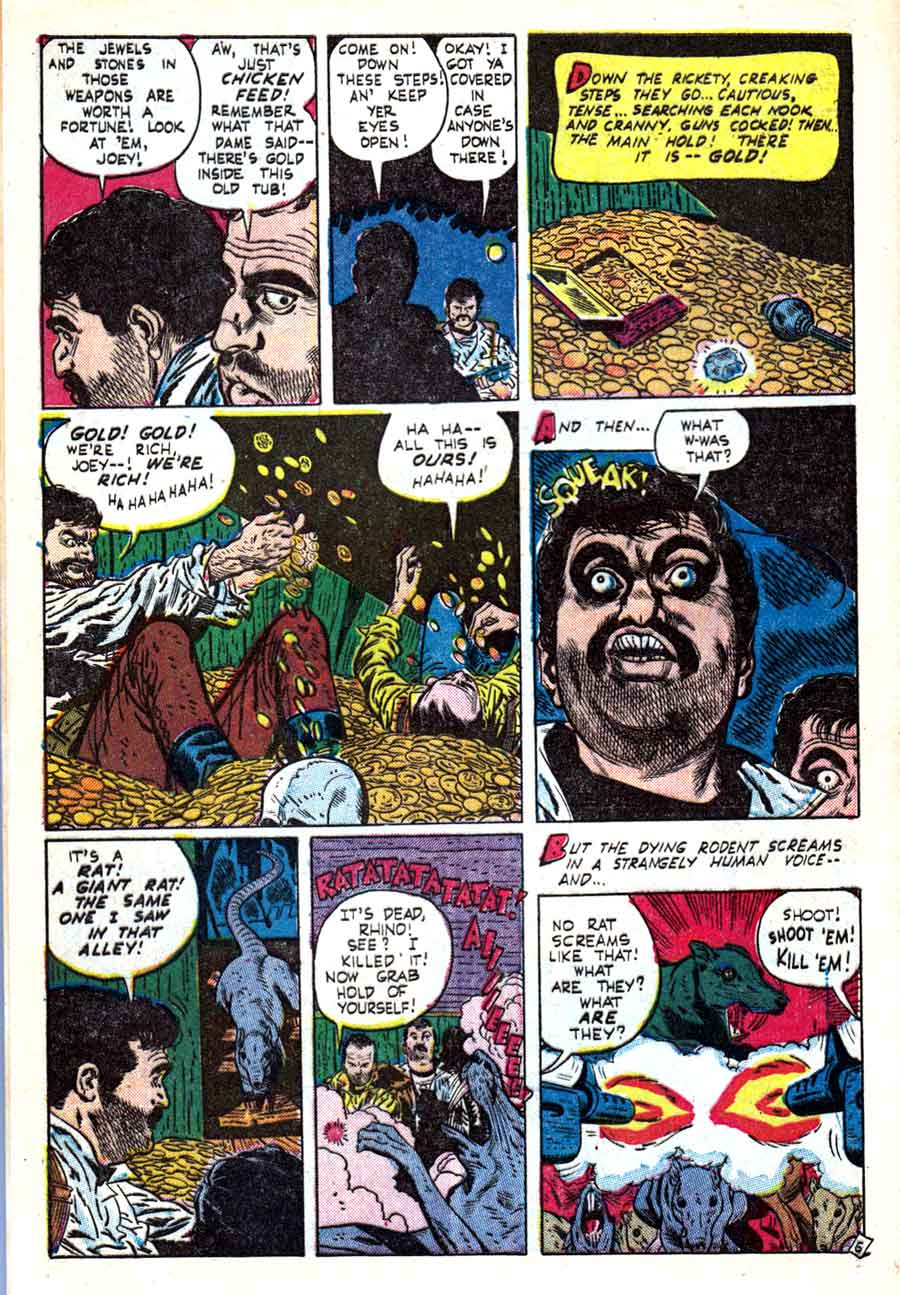 Out of the Shadows #6 Alex Toth 1950s standard horror comic book page art