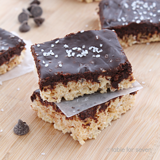 Salted Caramel and Chocolate Rice Krispies Treats