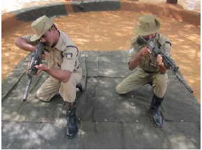 5.56mm INSAS Rifle kneeling position