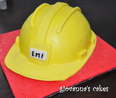 Giovanna S Cakes Engineer Helmet Cake