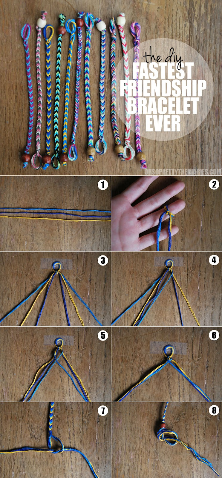 How to weave bracelets out of thread