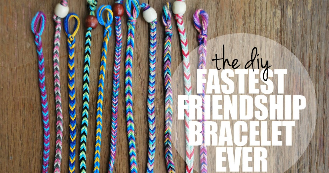 How to make quick and easy friendship bracelets