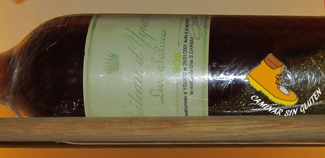 Botella de Château d'Yquem 1806