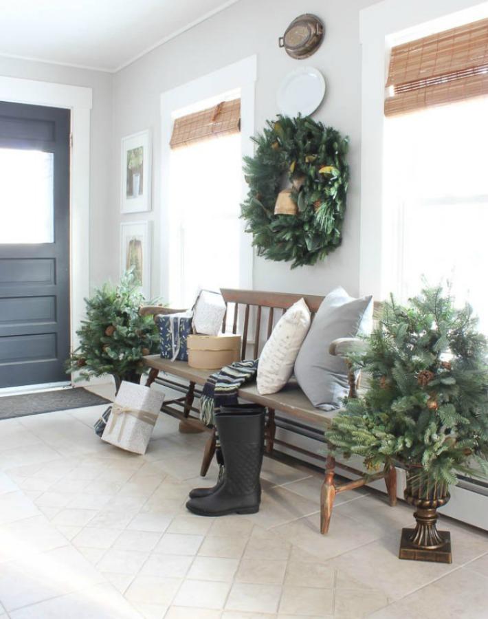 Decoraci n f cil una casa rustic chic decorada para navidad - Casas decoradas en navidad ...