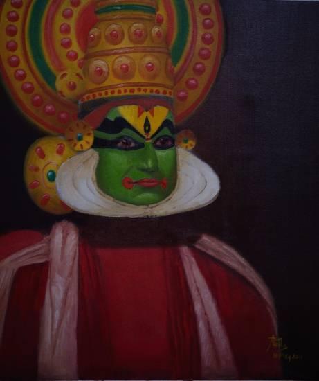 The Stare, painting by Arun Akella, part of his portfolio in Indiaart.com