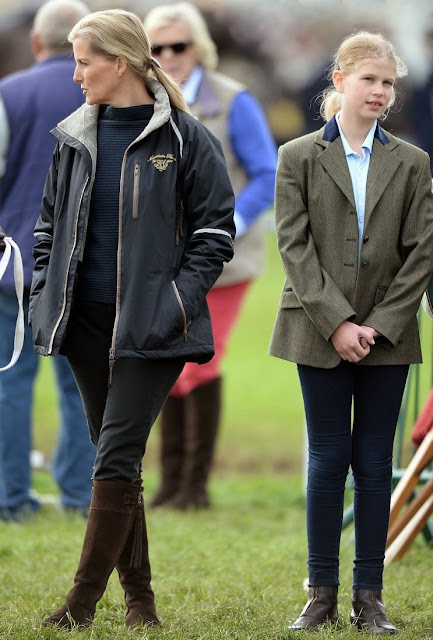 Sophie, Countess of Wessex and Lady Louise Windsor attended the Royal Windsor Horse show in the private grounds of Windsor Castle