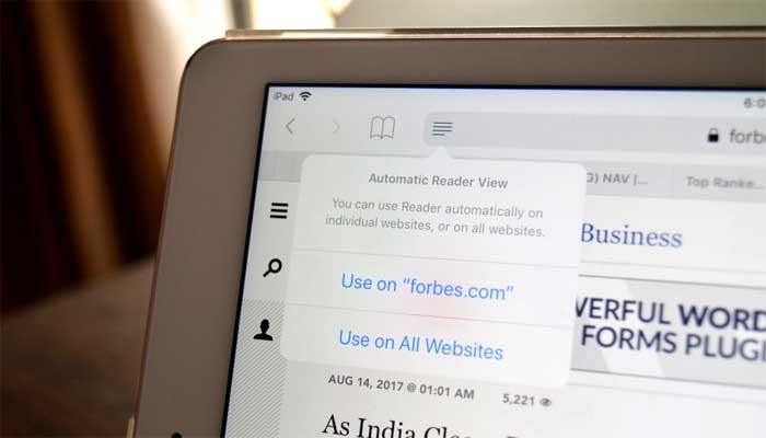 Cara Mengaktifkan Fitur Automatic Reader di Safari untuk iOS