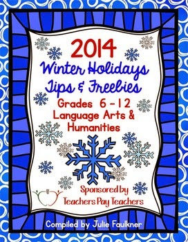 Arts and Humanities Teachers Pay Teachers Winter Holiday Ebook