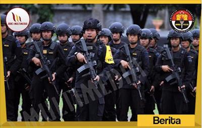 Satu SSK Brimob Kelapa Dua diterima Kapolda Papua Irjen Pol Boy Rafli Amar