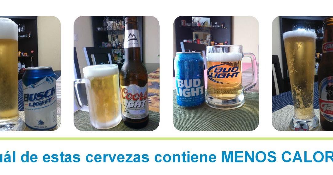 Calorias cerveza con menos