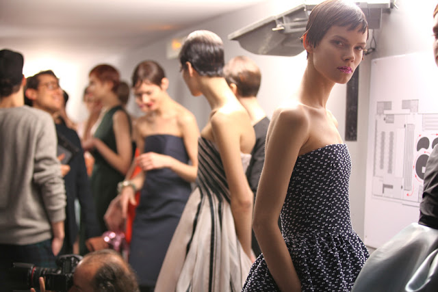 Backstage at Christian Dior Spring 2013 Haute Couture in Paris