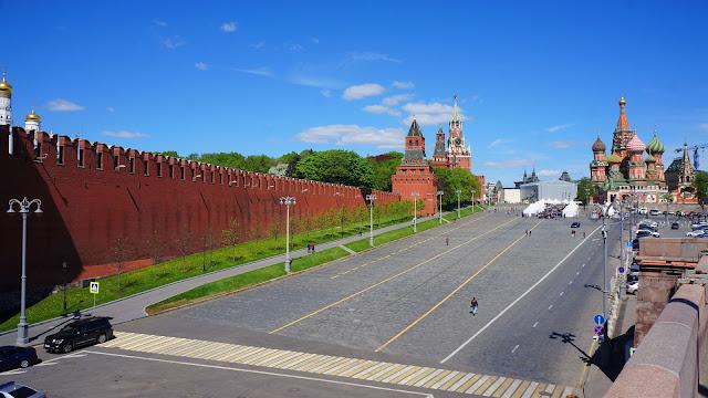 Вид на Храм, Кремль и Красную площадь