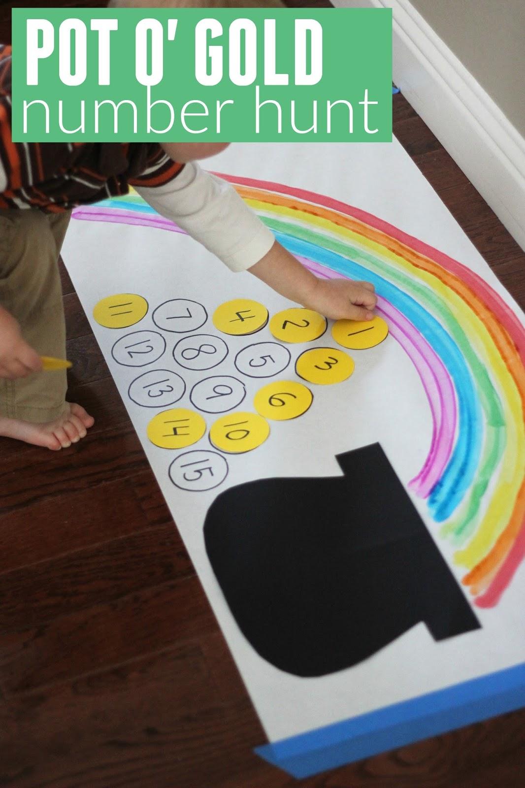 Toddler Approved Pot O Gold Number Hunt