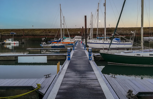 Photo of a frosty start to the day on Monday at Maryport Marina