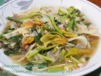 Sautéed Ilocano Vegetables with Ground Beef