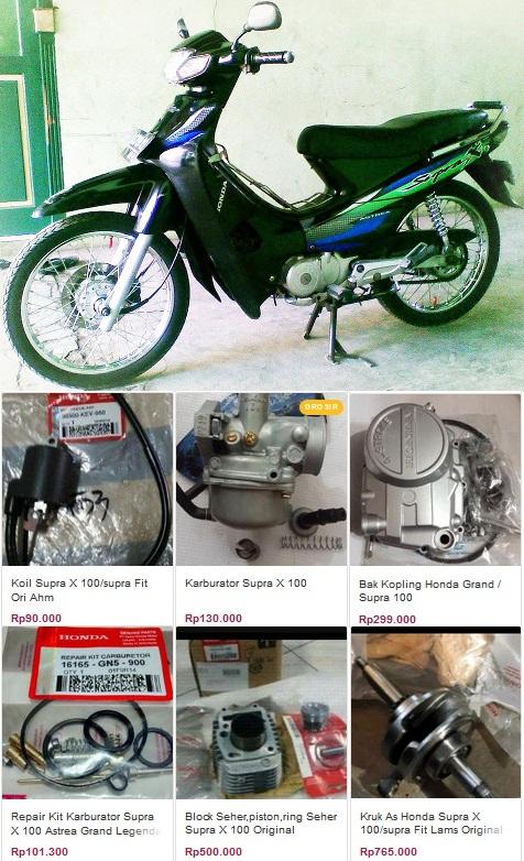 Katalog Sparepart Honda Supra X 100cc