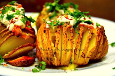 Baked Cheesy Potato ~ Hassleback Potato