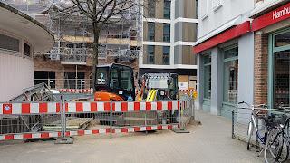 Baustelle vor der Haspa