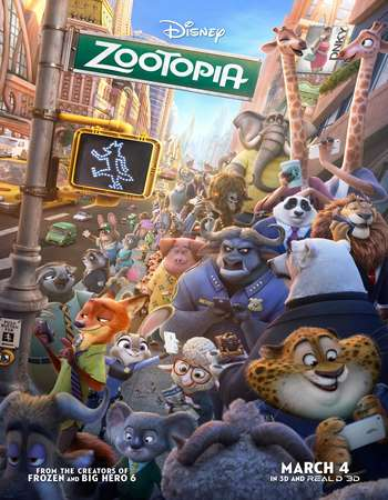 Poster Of Zootopia 2016 English 300MB HDCam 480p Free Download Watch Online