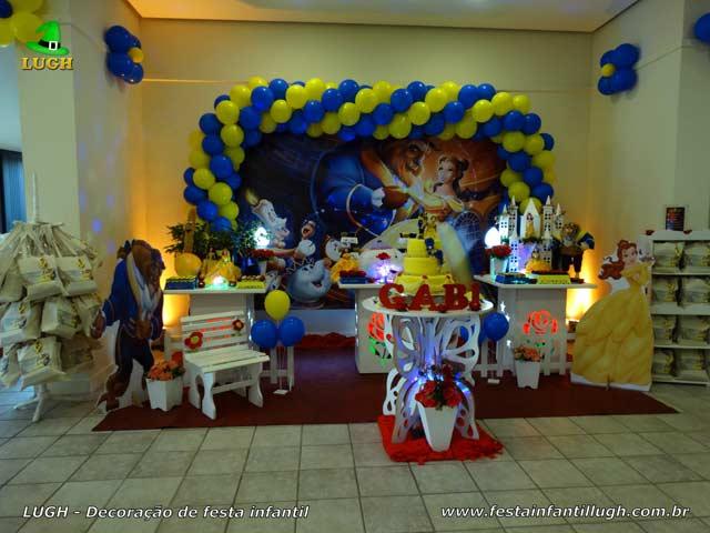 Decoração festa Bela e a Fera, aniversário