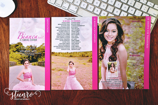 Bianca 18th Birthday Invitation Stunro CreativeWorks