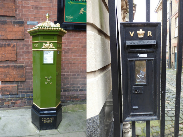 Unusual post boxes on Rochester High Street
