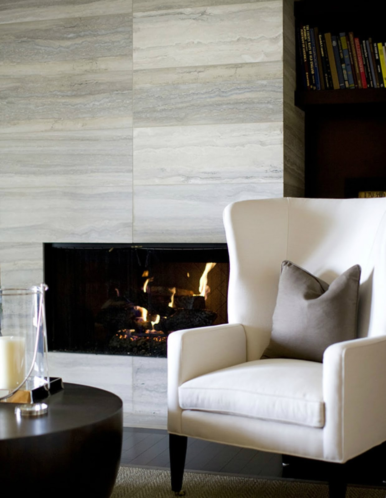 modern fireplace interior design inspiration stone