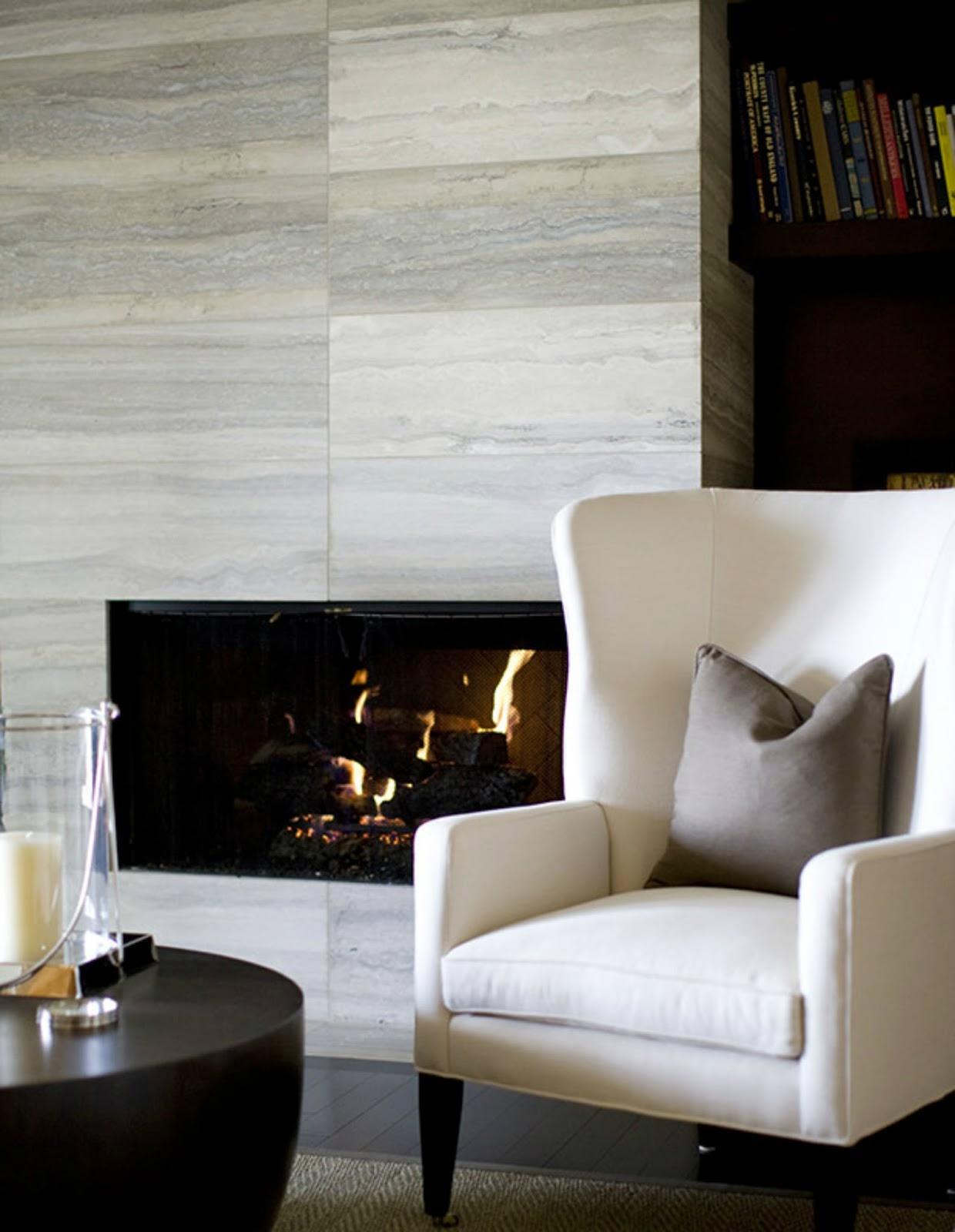 modern fireplace interior design inspiration stone