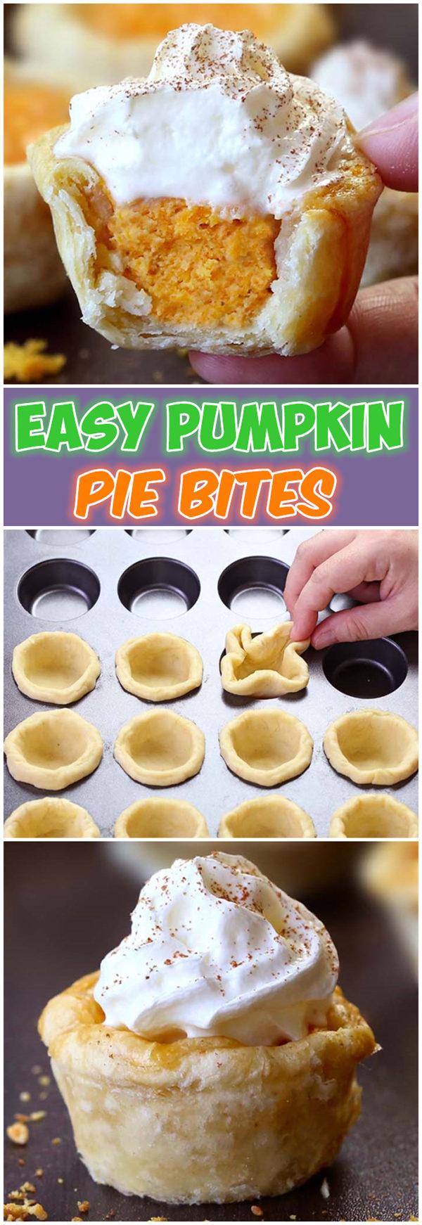 Easy Pumpkin Pie Bites