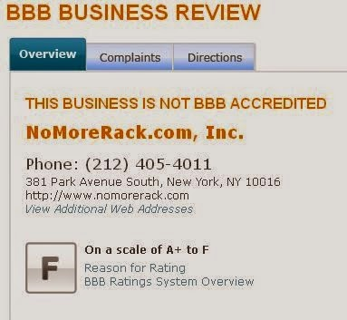 nomorerack complaints on BBB