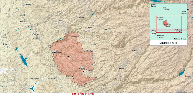 Butte Fire - Wildland Fire Map