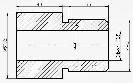 PEMBUATAN BAHAN DRAT SHOK PIPA BOR DENGAN PROGRAM CNC