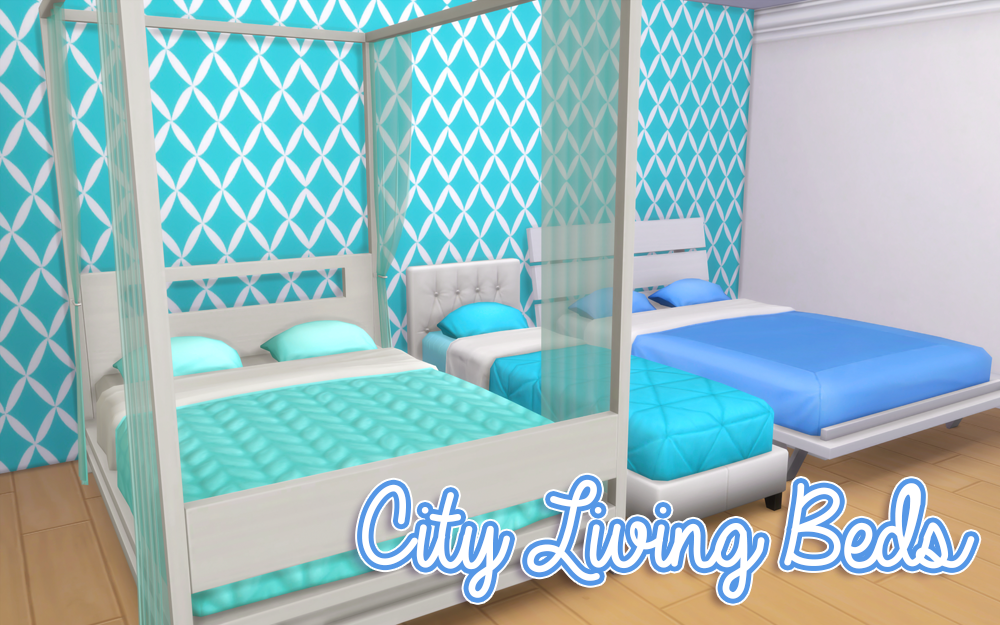 My Sims 4 Blog City Living Bed Recolors By Noodlescc