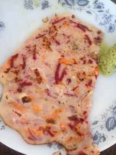 Carrot Beetroot Dosa