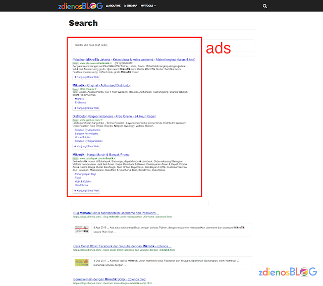 search result - Memasang Google Adsense for Search