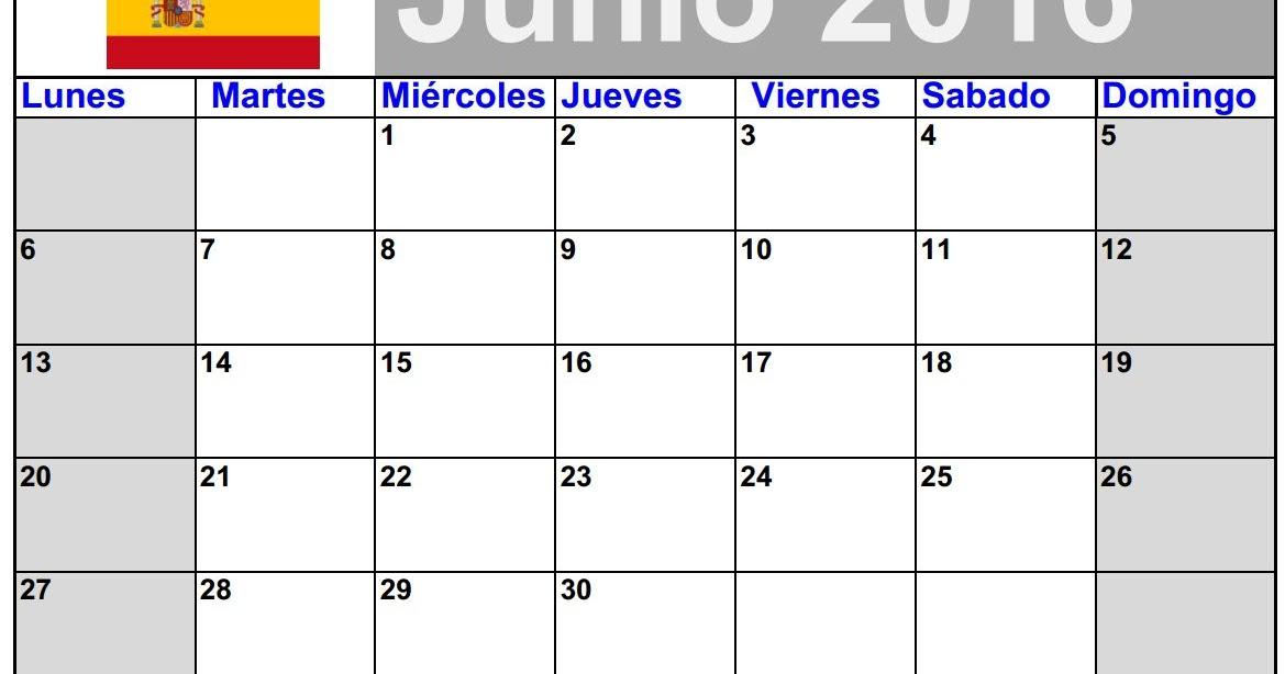 calendario de junio 2016 para imprimir jpg 2016 blank calendar calendar en www albumi c la. Black Bedroom Furniture Sets. Home Design Ideas