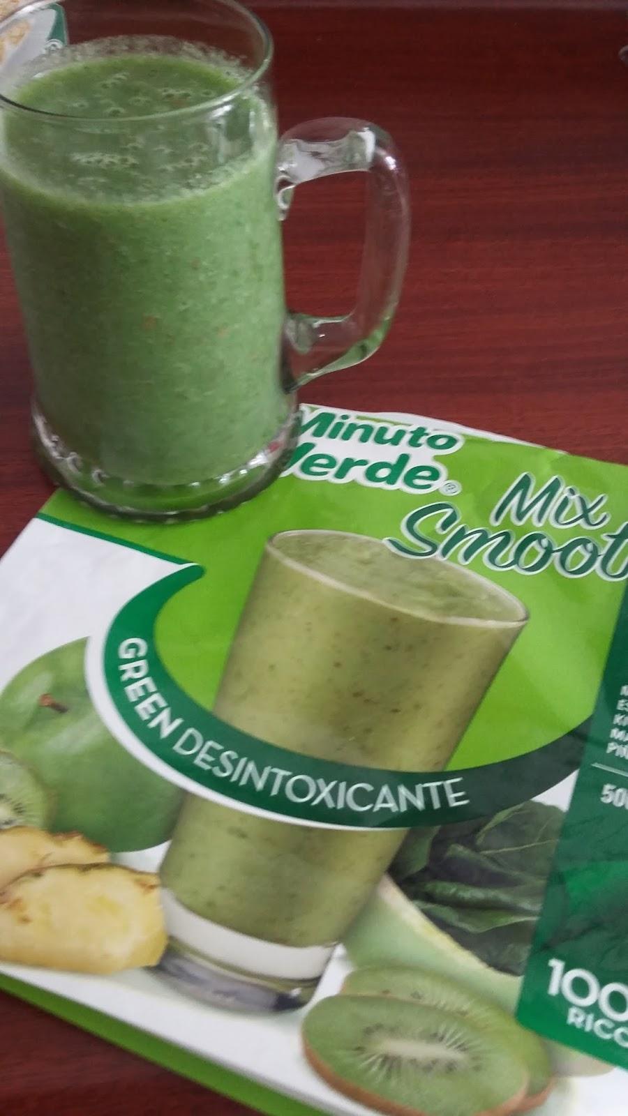 batido verde detox minuto verde mix smoothie
