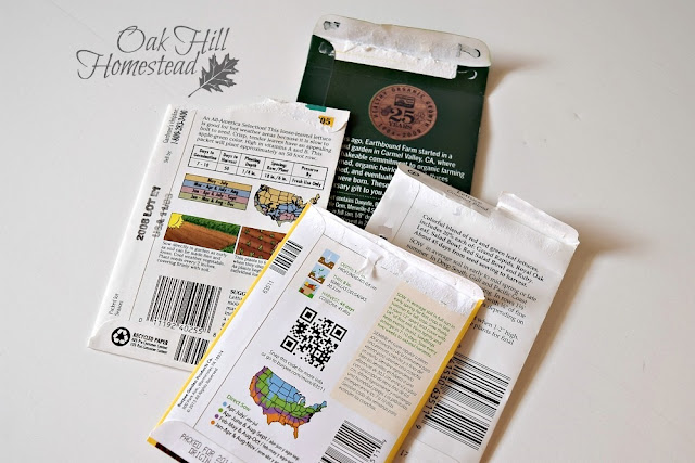 Store seeds in their original packets with the planting information on the back.