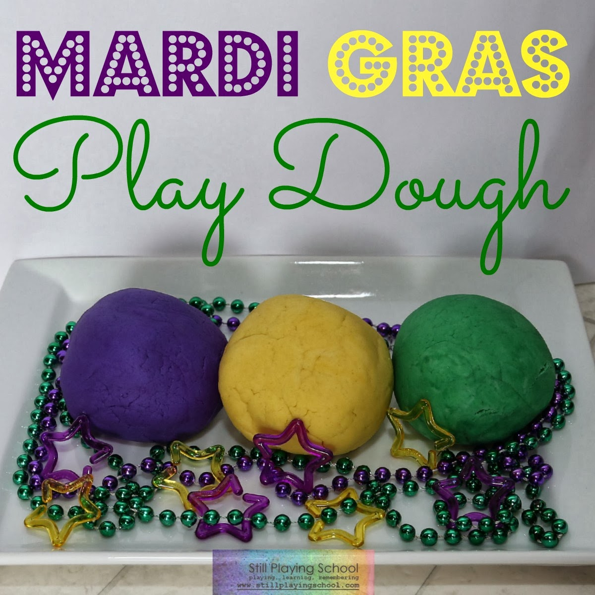 Mardi Gras Play Dough