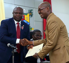 Adekunle Gold Celebrates Dad As Ambode Appoint Him As Permanent Secretary For Education In Lagos