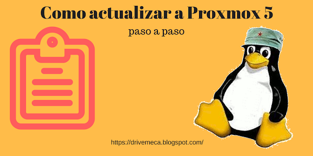 Como actualizar a Proxmox VE 5