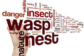 wasp danger text mosaic
