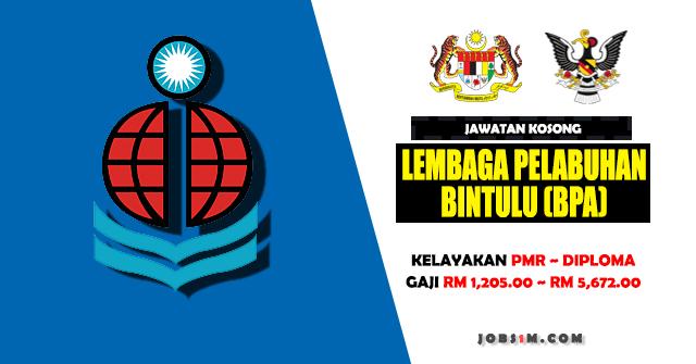 Jawatan Kosong di Lembaga Pelabuhan Bintulu (BPA) - KELAYAKAN SPM ~ DIPLOMA
