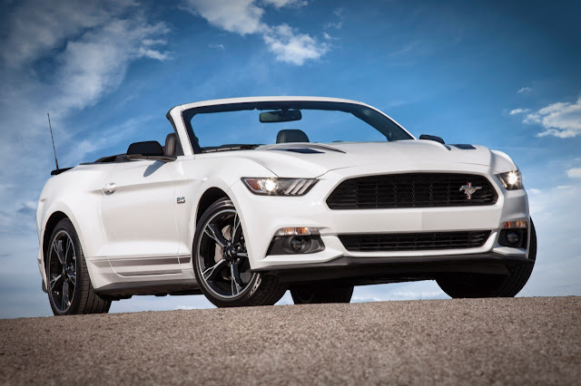 Front 3/4 view of the 2016 Ford Mustang GT California Special Convertible