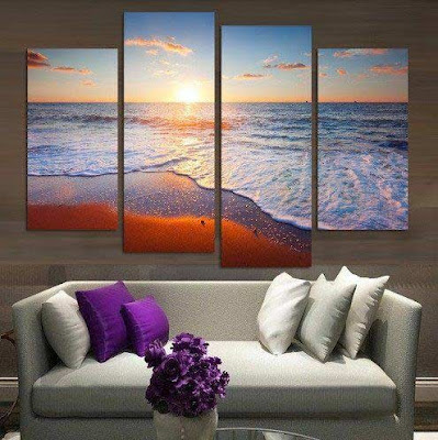 3d modular painting for wall art design, how to make modular painting for living room