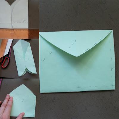 плик от хартиено сърце